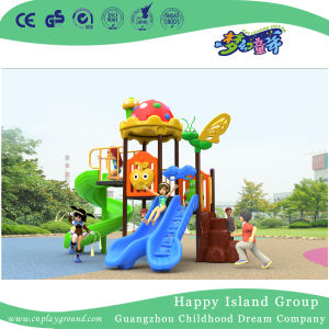 2018 New Outdoor Colorful Leaves Roof Children Combination Slide Playground Equipment (H17-20) pictures & photos