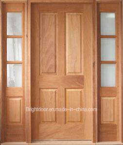 Modern Style Inward Opening Exterior Teak Wood Door pictures & photos