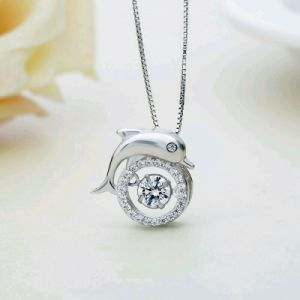 Wholesale Jewelry Best Price Fashion Jewelry 925 Sterling Silver Necklaces with Dancing Stone Rhodium & Rose Gold&Yellow Gold Plated for Women (559090123703) pictures & photos