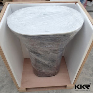 Kingkonree Solid Surface Bathroom Sink Freestanding Wash Basin pictures & photos