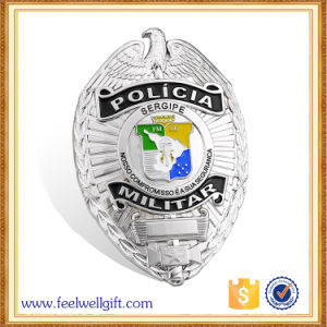 Customized Souvenir Engraved High Quality Hard Enamel Police Badge pictures & photos