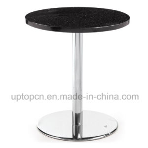 (SP-RT168) Acrylic Black Round Corian Solid Surface Table pictures & photos