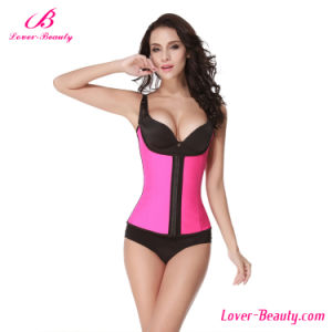 Wholesale Classic Pink Latex Waist Trainer Steel Boned Corset pictures & photos