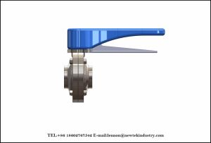 Stainless Steel Pull Handle Welded Sanitary Butterfly Valve pictures & photos