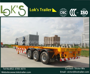 40 Feet 3axles Skeleton Cargo/Container Semi Truck Trailer pictures & photos