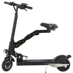 Coolest Two Wheels Electric Folding Kick Scooter with Saddle pictures & photos