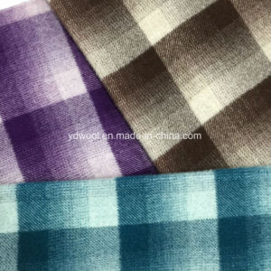 Gradient Ramp Color Check Wool Fabric pictures & photos