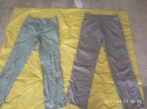 Original New York Style Door to Door Clean Men Cotton Pants Used Clothing From Donguan pictures & photos
