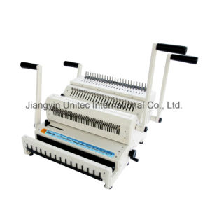 Combination Manual Comb and Wire Book Binding Machine Best Selling Cw2500 pictures & photos