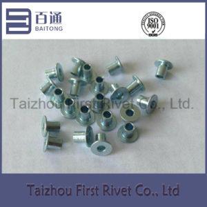 4X5.5mm Blue Zinc Color Flat Head Full Tubular Steel Rivet
