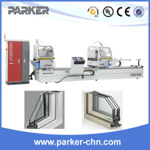 Aluminum Profiles CNC Control Double Mitre Saw/Aluminum Window Making Machine pictures & photos