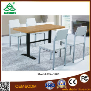 Wooden Color Dining Table Sets Charm Wood Dining Room Tables and Chairs pictures & photos