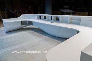 Large Size Hospital/Office Curved Information Counter Table Office Furniture pictures & photos