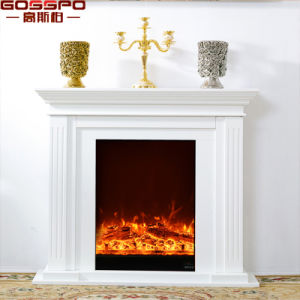 French Antique Luxury White Solid Oak Wood Fireplace Mantel (GSP14-005) pictures & photos