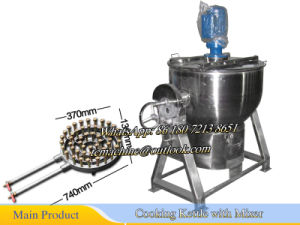 200L Jacketed Kettle Gas Heating Kettle Cooking Kettle No Jacketed Gas Cooking Kettle pictures & photos