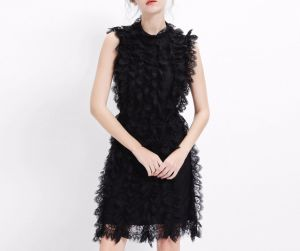 Lace Elegant Charming Sleeveless Dinner Ladies Dress pictures & photos