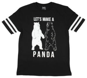 2017 Hot Sale Black White Panda Graphic T-Shirt (A535) pictures & photos