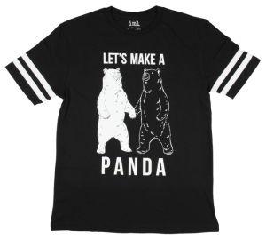 2017 Hot Sale Black White Panda Graphic T-Shirt (A535)