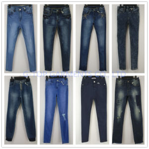 Light Blue Skinny Jeans for Girls (121-G302) pictures & photos