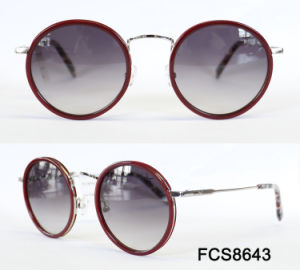 Round Frame Metal & Acetate with Ce for Lady Eyewear Sunglasses pictures & photos