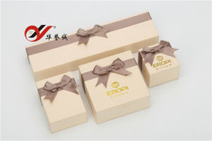 Bowknot Yellow Paper Jewellery Boxes Set pictures & photos