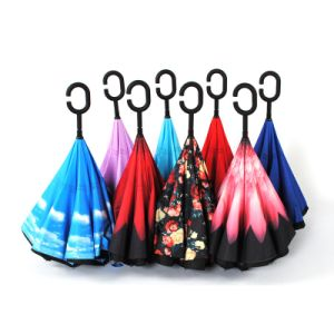 Pink Color Big Size Foldable Umbrella pictures & photos