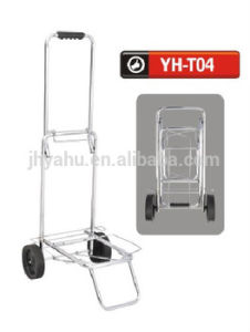 Steel Handtruck Folding Push Cart Hand Push Cart for Warehouse (YH-T04) pictures & photos