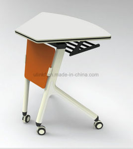 Modern Training Trapezoid Meeting Folding Desk (HX-NCD405) pictures & photos