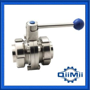 Sanitary Stainless Steel Union Type Butterfly Valve pictures & photos