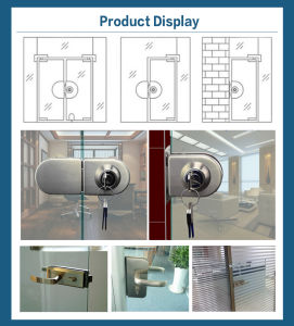 One Lock One Knob Glass Door Lock for Double Door pictures & photos