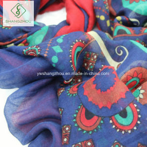 New Lady Fashion Scarf Shawl with Cashew Printed Tassel pictures & photos