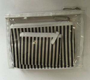PVC& Satin Cosmetic Bag Sets pictures & photos