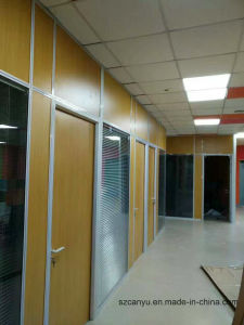 Clear Glass Partition Design Price of Aluminum Office Partition Wall pictures & photos