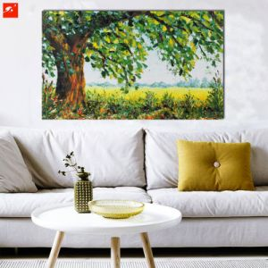 New Peaceful Countryside Large Tree Landscape Canvas Oil Painting pictures & photos
