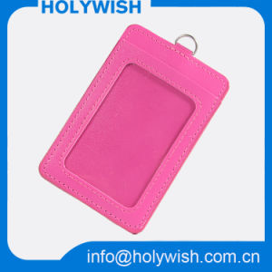 Wholesale PU Leather Badge Card Holder for Business
