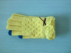 Fashion Knitting Embroider Touch Gloves pictures & photos
