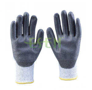 2017 New Design 13G Polyster Nitrile Coated Hand Safety Working Gloves (D78-G5) pictures & photos