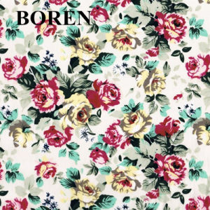 Spandex Cotton Printed Flower for Dress and Garment pictures & photos