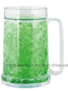 Doubel Wall Plastic Ice Frost /Frozen Mug with Gel (R-7004) pictures & photos