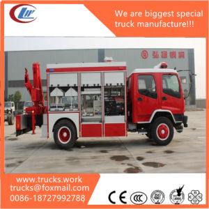 Fvr 4X2 Isuzu Fire Truck Fixed Crane Details pictures & photos