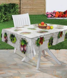 Plastic Tablecloth PVC Transparent Printed Tablecloth pictures & photos