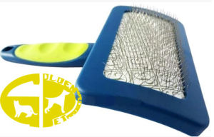 Pet Comb with ABS+TPR Handle and Stainless Steel Needle