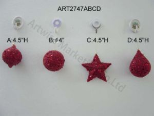 Christmas Decorationtree Ornament Sequin Balls, 4asst pictures & photos