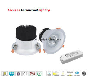COB White Aluminum Dimmable Warm White LED Downlight for Commercial Lighting pictures & photos