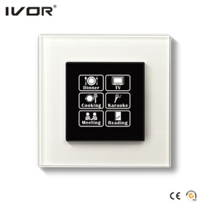 Networking Lighting Switch Touch Panel with Scene Control Glass Frame (HR1000-GL-S-CAN) pictures & photos