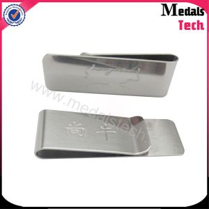 Wholesale Custom Cheap Stainless Steel Money Clip with Laser Logo pictures & photos