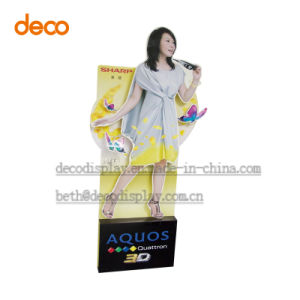 Paper Floor Display Standee Advertising Equipment for Store Selling pictures & photos