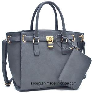 Fashion Litchi Grain PU Leather Handbag Designer Women Business Bag pictures & photos