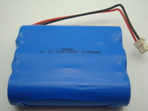 lithium 18650 battery pack for LED Flashlight Battery pictures & photos