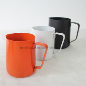 Stainless Steel Colorful Milk Frothing Pitcher, Espresso 20oz pictures & photos